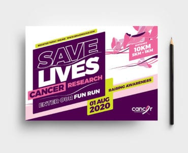 Cancer Charity Fun Run Flyer Template