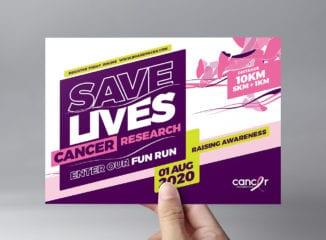 Cancer Charity Fun Run Flyer Template