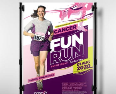 Cancer Charity Fun Run Poster Template