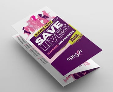 Cancer Charity Fun Run Tri-Fold Brochure Template