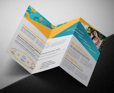 Corporate Finance Tri-Fold Brochure Template Folded