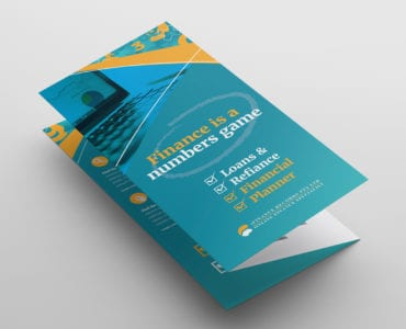 Corporate Finance Tri-Fold Brochure Template Front