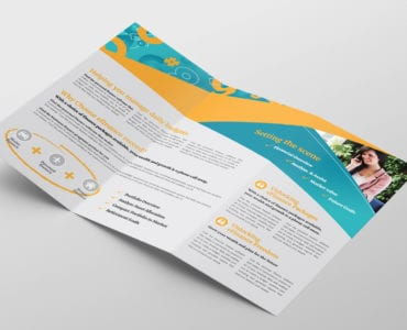 Corporate Finance Tri-Fold Brochure Template Inside