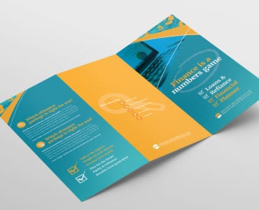 Corporate Finance Tri-Fold Brochure Template Outside