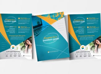 Corporate Financial Poster Template