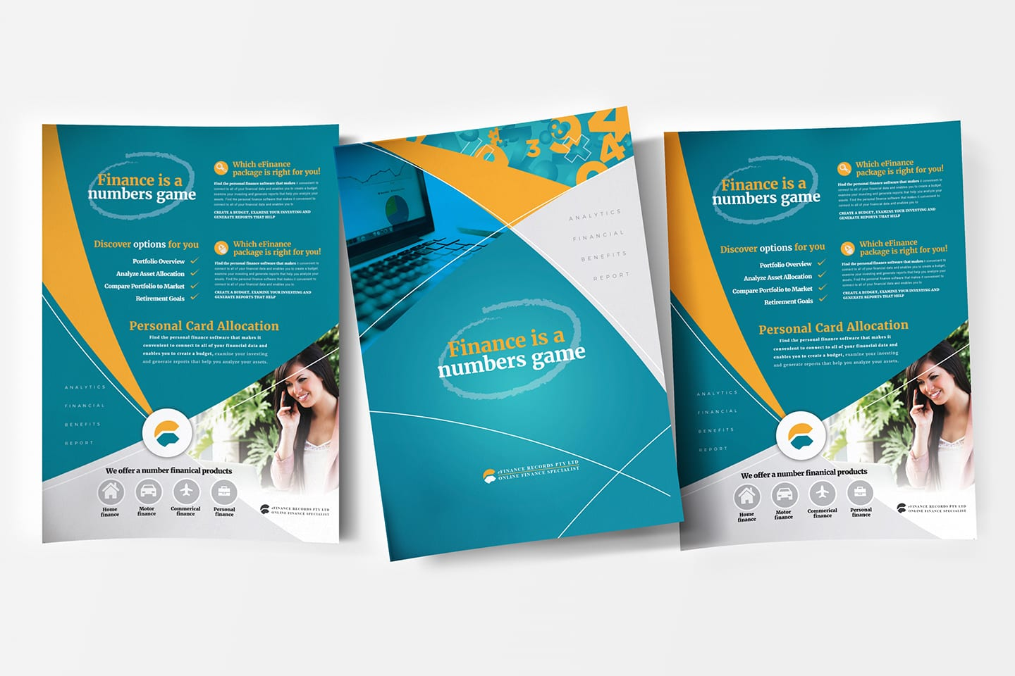 efinance corporate financial poster templates in psd  ai  u0026 vector