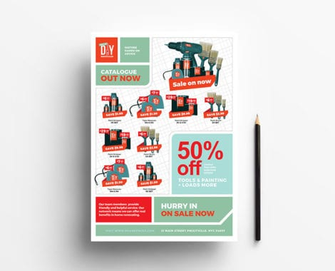 DIY Supply Advertisement Template