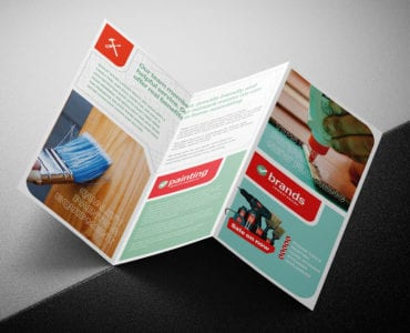DIY Tool Supply Tri-Fold Brochure Template