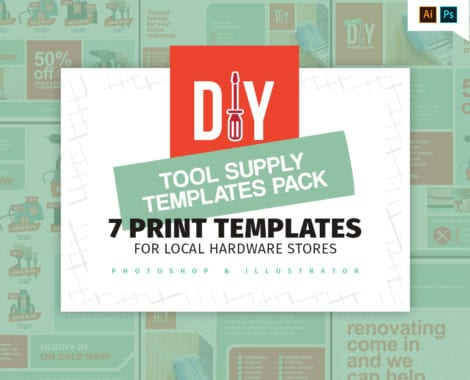 DIY Tool Supply Templates Pack