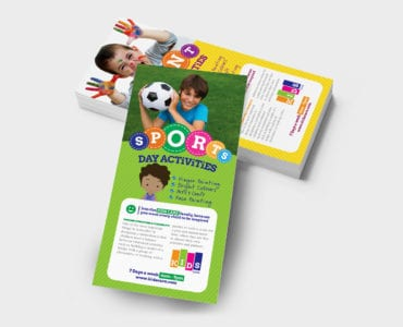 DL After School Care Rack Card Template