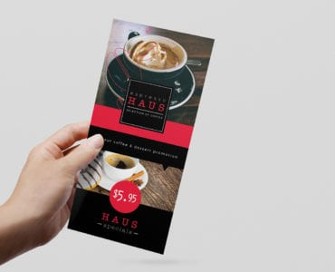 DL Cafe Menu Rack Card Template
