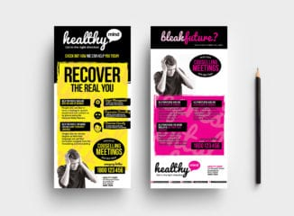 DL Mental Health Rack Card Template