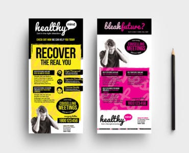 DL Mental Health Rack Card Template