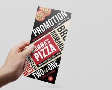 DL Pizza Menu Rack Card Template