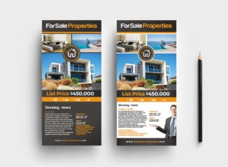 DL Real Estate Rack Card Template