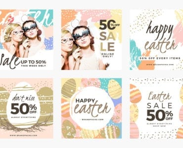 Easter Sale Social Media Templates