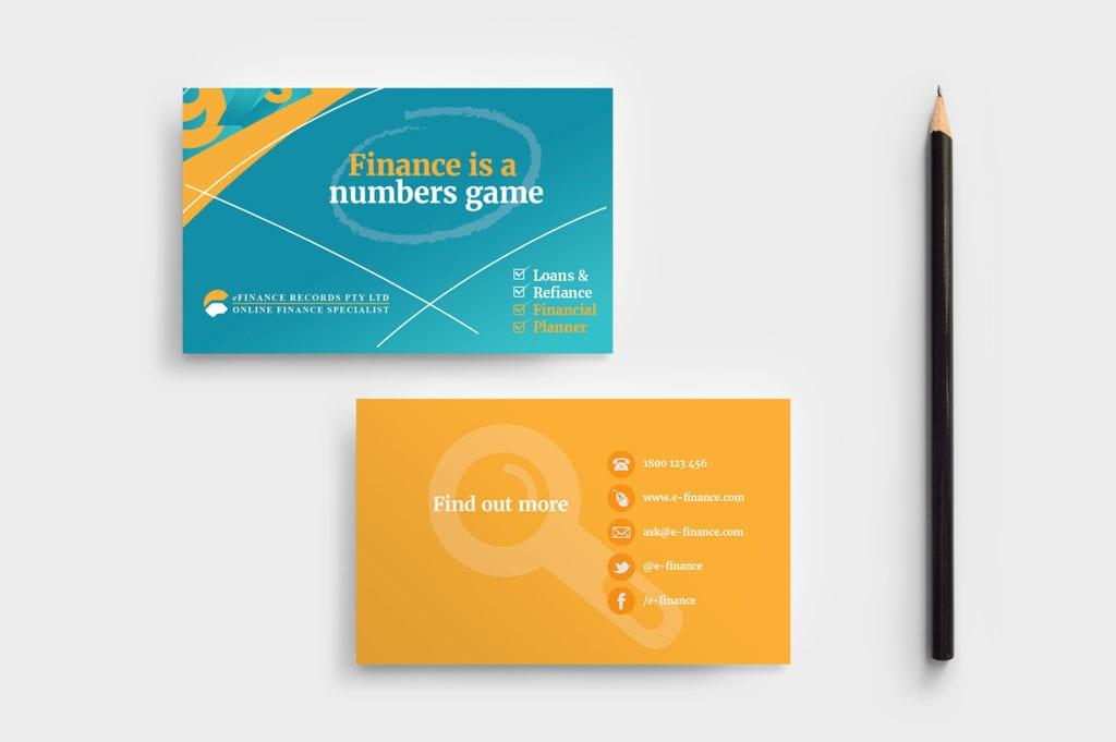 Corporate Finance Business Card Template