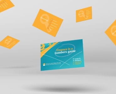 Corporate Finance Business Card Template