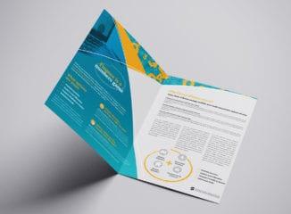 Financial Brochure Template for Photoshop & Illustrator