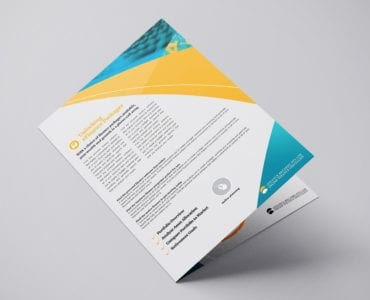 Financial Brochure Template for Photoshop & Illustrator