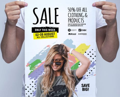 Grand Sale Poster Template