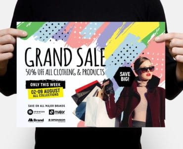 Grand Sale Poster Template - Landscape