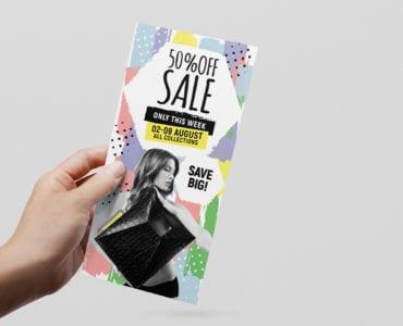 Grand Sale Rack Card Template