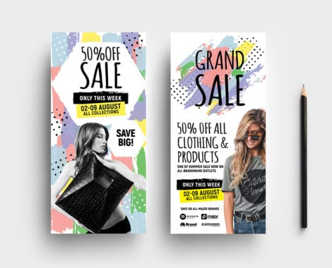 Grand Sale Rack Card Templates