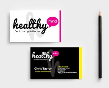 Mental Health Business Card Template