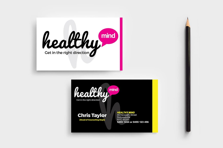 Mental Health Business Card Template