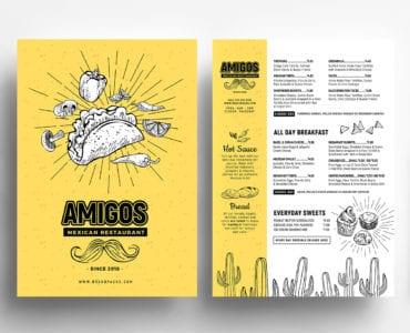 Mexican Restaurant Menu Templates