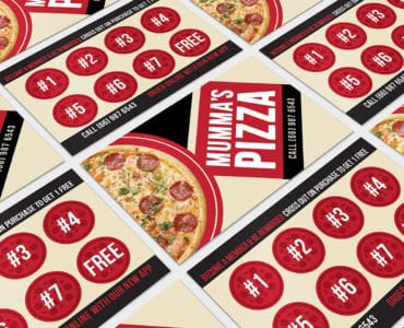 Pizza Restaurant Loyalty Card Template