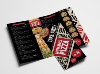 Pizza Restaurant Tri-Fold Menu Template