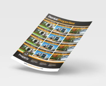 Property Listing Sheet / Poster Template