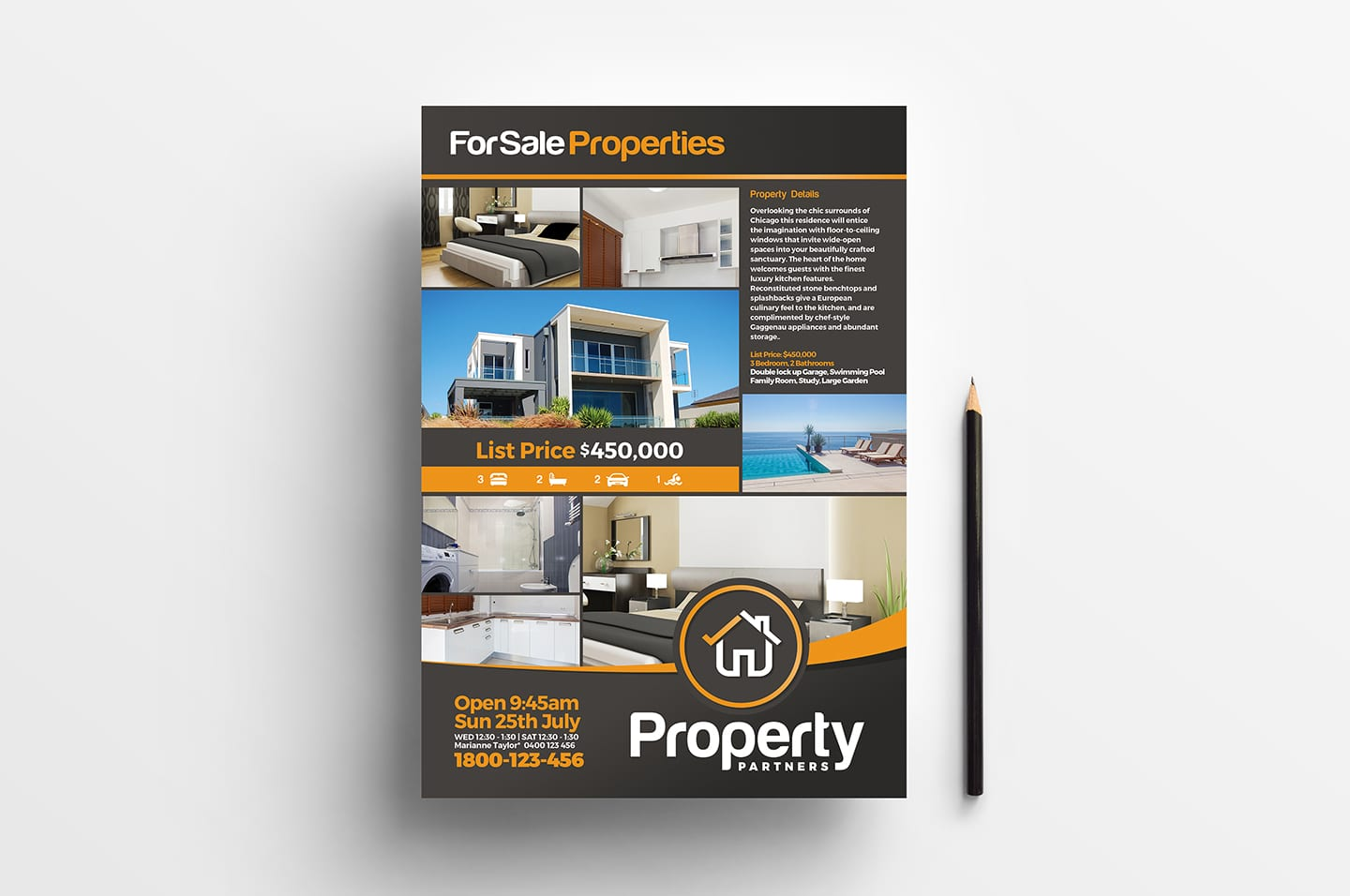 Real Estate Poster Template (vol3)