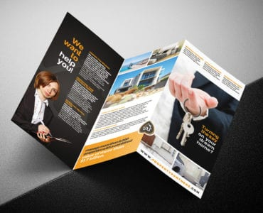 Real Estate Tri-Fold Brochure Template Outside