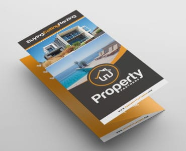 Real Estate Tri-Fold Brochure Template Front