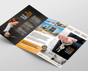 Real Estate Tri-Fold Brochure Template Inside