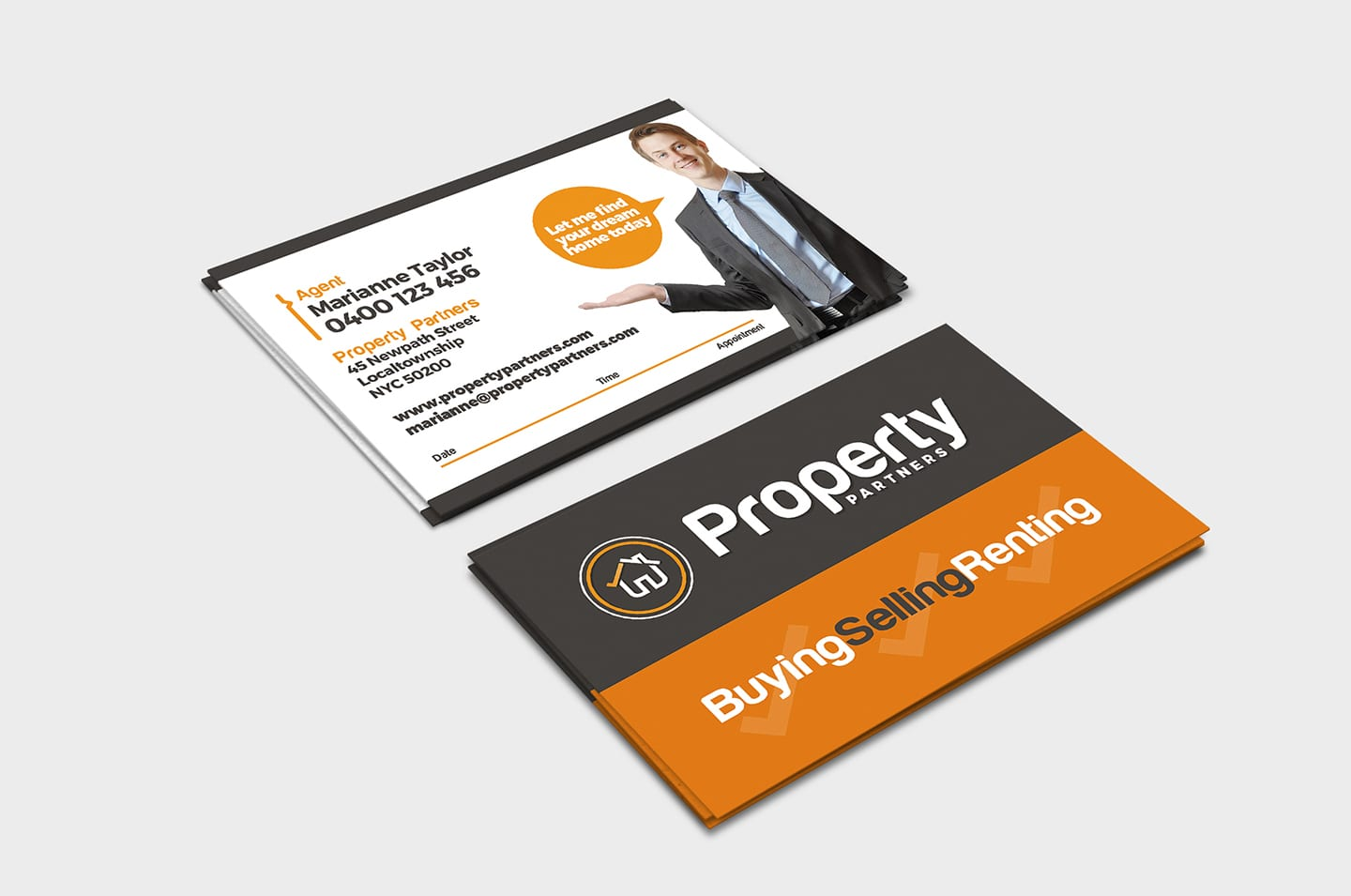 Real Estate Business Card Template in PSD, Ai & Vector ...