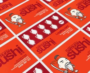 Sushi Restaurant Loyalty Card Template