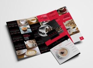Tri-Fold Cafe Menu Template