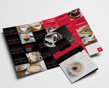 Tri-Fold Cafe Menu Template