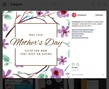Mother's Day Social Media Templates