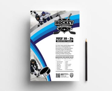 A4 Hockey Club Poster/Advertisement Template