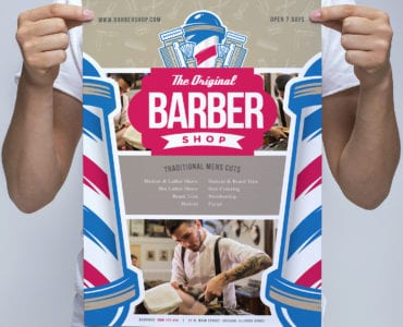 A3 Barber Shop Poster Template
