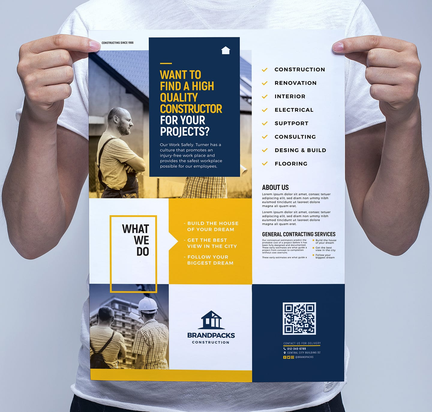 A3 Construction Company Poster Template