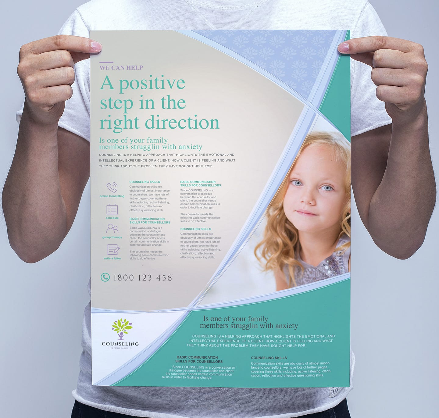 A3 Counselling Service Poster Template