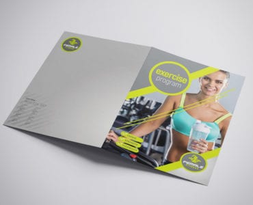 A3 Female Fitness Brochure Template