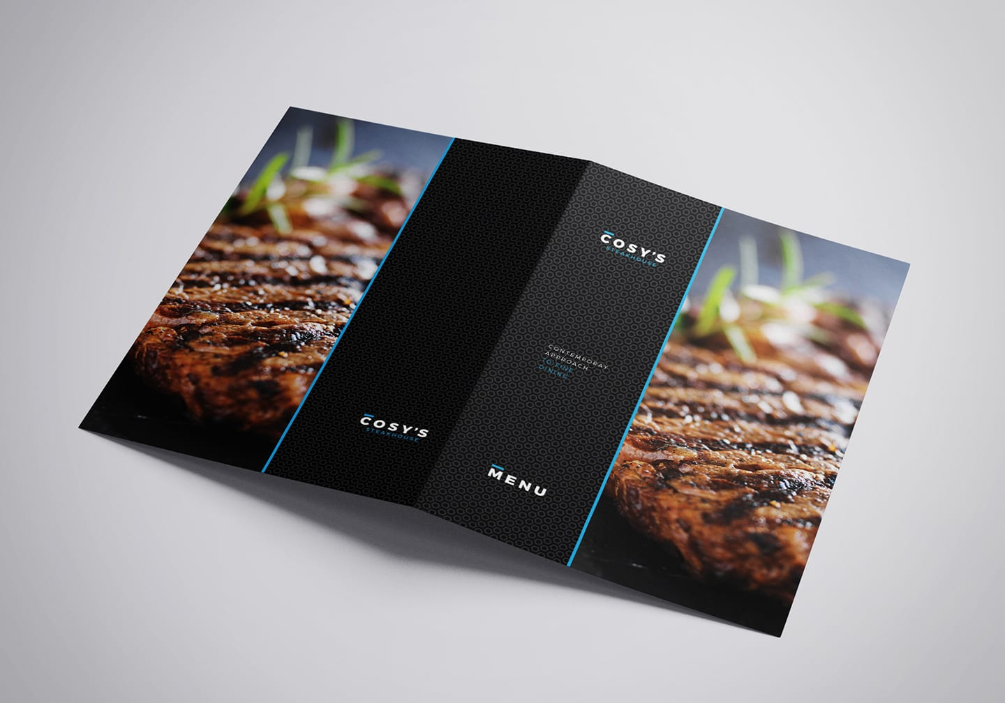 A3 Folding Restaurant Menu Template Outside