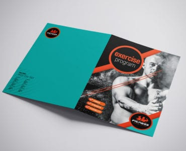 A3 Gym Brochure Template